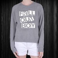 Fall Out Boy screenprint sweatshirt, sweater, made from mix polyester cotton, available size S - 3XL