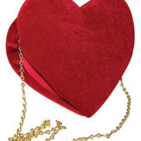 Red Velvet Heart Purse