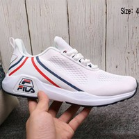 FILA 2018 summer new men and women breathable trend sports shoes F-A36H-MY White