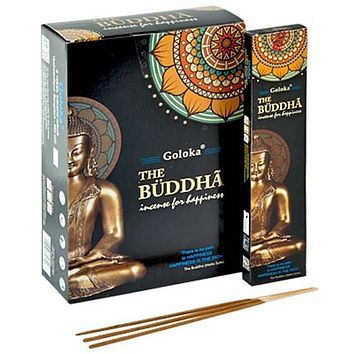 Goloka The Buddha Incense - 15 Gram Pack (12 Packs Per Box)