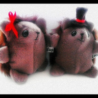 Harry And Sally Hedgehog Plushies by Plusheeze on Etsy