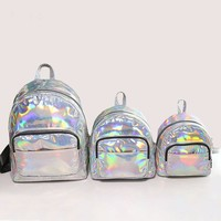 Fashion Women's Hologram Backpacks for teenagers girls Laser Silver Color Holographic Mirror Mini classic Big Shoulder Bags