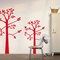 wall tree decals wall stickers for bedroom living room office children's room baby's room J519
