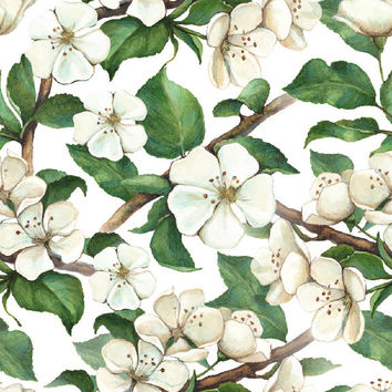 Painted Magnolias Removable Wallpaper Decal