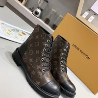 LV Louis Vuitton Woman Fashion Casual Shoes Leather Shoes