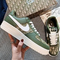 Nike air force 1 x Dior Women Men Sneakers Classic Shoes  GREEN