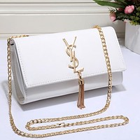 YSL Fashion Women Shopping Leather Metal Chain Crossbody Satchel Shoulder Bag