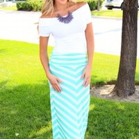Back to School Hottie Maxi Skirt Mint CLEARANCE - Modern Vintage Boutique