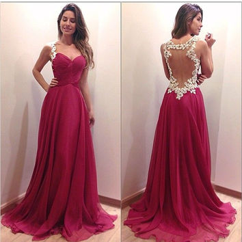 Sexy Party Bridesmaids Cocktail Long Dress FF5fo