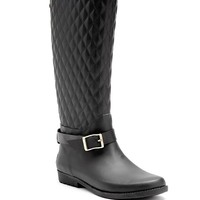 Lulue Quilted Rain Boots | GUESS.com