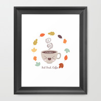 But First, Coffee Framed Art Print by Claudia Ramos Designs