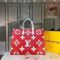 629 Louis Vuitton LV M44571 Onthego Print Handbag Large-capacity Tote Bag Shopper 41-34-19cm