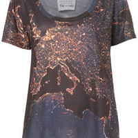 Europe Night Map Tee By Tee and Cake - New In This Week  - New In