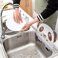 1PC Cute Panda Sucker Cup Water Splash Water Impermeable Baffle Screen Basin Wash Basin Stand Kitchen Accessories Gadgets Tool