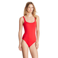 SCOOP-BACK ONE-PIECE