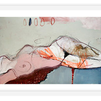 One Kings Lane - Best of Limited-Edition Art - Jylian Gustlin, Stitched I