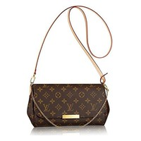 Louis Vuitton Favorite MM Monogram Canvas Cluth Bag Handbag Article: M40718 Made in France