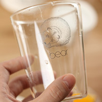 bear glass cup gift