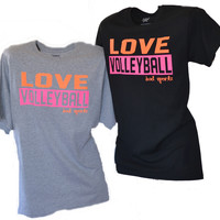 LOVE - VOLLEYBALL Short Sleeve T-shirt NEW