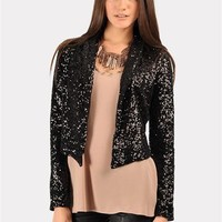 All Saints Sequin Jacket - Black at Necessary Clothing