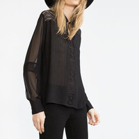 COMBINED LACE BLOUSE
