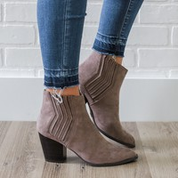 Persuede Me Booties - Taupe