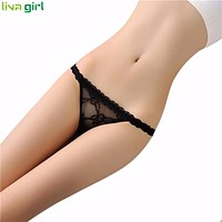 7 Colors Women Sexy Lingerie Transparent Lace Briefs Lady Panties Thongs G-string Vstring Underwear Underpants Knickers Jan19