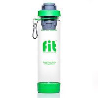 24oz Clear FIT Top Filtering Sports Water Bottle
