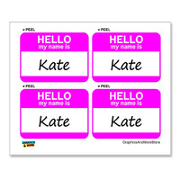 Kate Hello My Name Is - Sheet of 4 Stickers