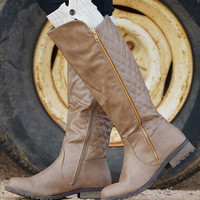 Never Look Back Boots - Taupe
