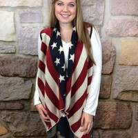 America Sleeveless Cardigan - CAR428AM