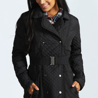 Chara Belted Quilted Trench Coat