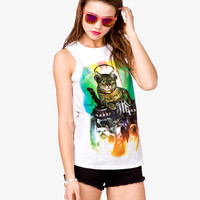 Cat Party Muscle Tee