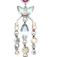Jeweled Chandlier Belly Button Ring