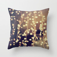 Hanging Lights Throw Pillow by Sydney Smith