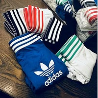 Adidas Classic Popular Men Stripe Comfortable Pure Cotton Breathable Briefs