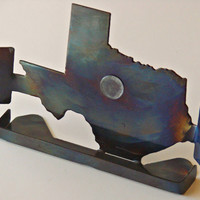 Texas Designer Iphone and Android Cell Phone Holder with Sound Reflectors