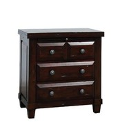 Sunny Designs Vineyard Night Stand In Rustic Mahogany