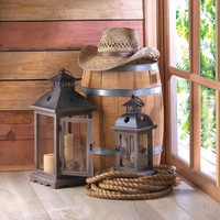 Candle Lanterns-Wood Country Charmers
