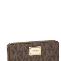 MICHAEL Michael Kors 'Jet Set - Signature' Zip Around Wallet | Nordstrom