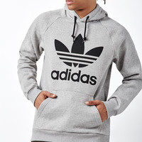 adidas Trefoil Gray Pullover Hoodie at PacSun.com