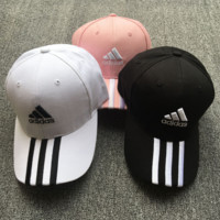 Trendy Adidas Embroidery Cotton Baseball Cap Hat In 3 Colors
