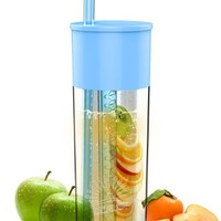 Amazon.com: Idealist 24oz Fruit Infuser Tumbler with Straw