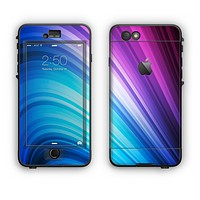 The Pink and Blue Glowing Neon Wave Apple iPhone 6 LifeProof Nuud Case Skin Set