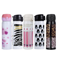 500ML Thermos Cup Mug Vacuum Cup Stainless Steel Bottles Thermal Thermo Bottle Insulated Tumbler Travel Bottle 4 Color