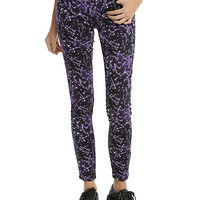 Blackheart Constellation Print Purple Super Skinny Jeans