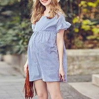 Striped Cotton Maternity Dresses