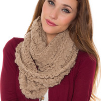 Posh Infinity Scarf - Taupe - One Size / Taupe