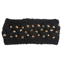 Studded Cable Knit Headwrap