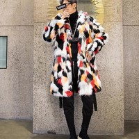 S-3XL!! Large-size men's wear!!!  2018  Men's men's fur coat coats the European and European style trench coats